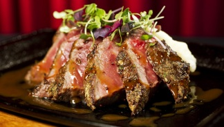 Bite Me: Sullivan's Porcini-Shallot Crusted Strip Steak