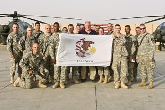 Gov. Pat Quinn Visits Troops in Afghanistan, Iraq