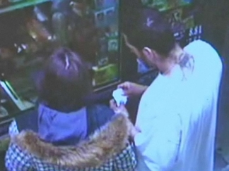 Surveillance Video: Suspects at Gas Station After Bat Attack