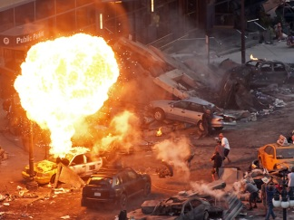 NEW PHOTOS: Explosions and Sports Cars on Transformers Set