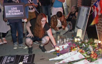 New Yorkers Gather at Stonewall Inn to Mourn Orlando Victims