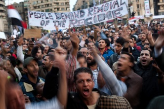 Protesters Still Defiant After Mubarak Announcement