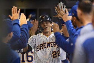 Christian Yelich Keys Brewers 3-2 Win Over the Cubs