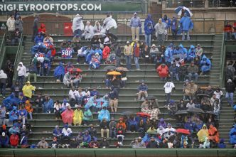 NLDS Game 4 at Wrigley Field Washed Out, Rescheduled