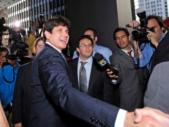 Day One: Blagojevich Sits Silently