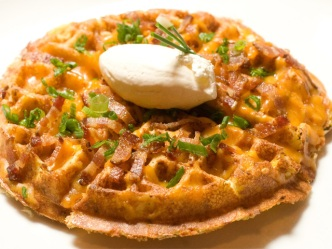 Bite Me: Loaded Baked Potato Waffle