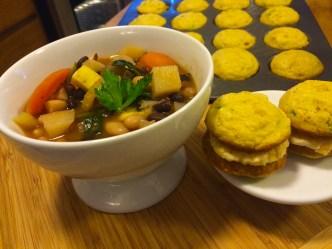 Wayne's Weekend: Hearty Vegetable Stew And Cornbread Whoopie Pies