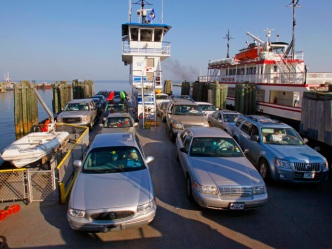 Ferry Moves Cars From Iowa to Illinois
