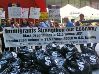 Chicago Protesters: Don't Deport Our Economy