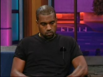 Solemn Kanye Appears on Leno Debut