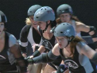 Nude Hippo Celebrates 75 Years of Roller Derby