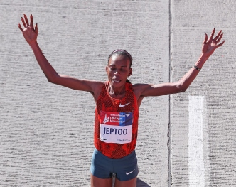 Rita Jeptoo Wins Chicago Marathon Women's Race