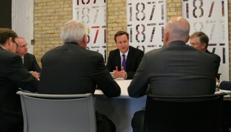 Britain's Cameron Visits 1871 During NATO