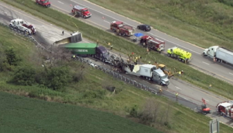 3 Killed in Fiery Crash Involving Multiple Vehicles on I-80
