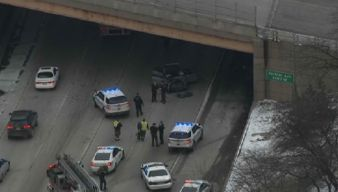 Crash, Police Activity Block Traffic on Outbound Eisenhower