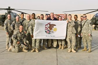 Quinn Visits Troops in Iraq