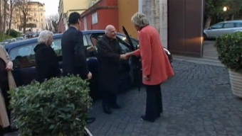 Cardinal George Arrives in Rome