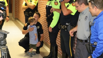 Fallen Officer's Kids Get Back-to-School Police Escort