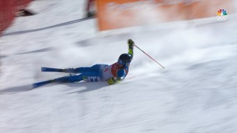 Manuel Feller and Luca De Aliprandini Crash in Giant Slalom