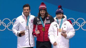 Medal Ceremony: J.H. Krueger Collects 1000m Silver