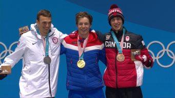 Medal Ceremony: Nick Goepper Gets Slopestyle Silver