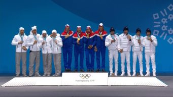 Medal Ceremony: Norway Gets Relay Gold Medals