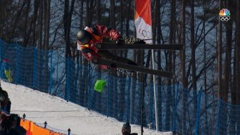 Cassie Sharpe's First Halfpipe Run Puts Her Into Lead