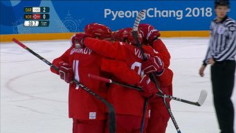 OAR's Three First-Period Goals Vs. Norway in Quarterfinal