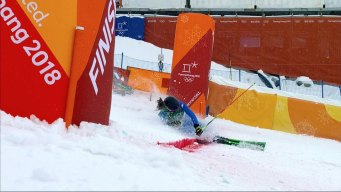 Ski Cross Racer Crashes Across Finish Line, Advances Anyway