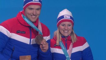 Medal Ceremony: Norway Receives Mixed Doubles Curling Bronze