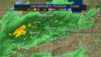 Chicago Area Wakes Up to Rain, Could See Wintry Mix