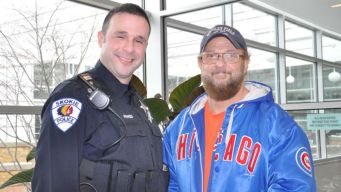 'Heroic' Suburban Cop Saves Man's Life in Department's Lobby