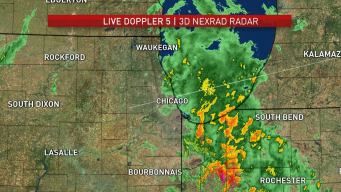 Storms Bring Rain, Hail and High Winds to Chicago Area