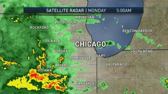 Chicago Area Sees Wet Start to the Work Week