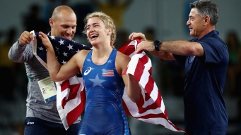 Maroulis Wins America's 1st Women's Wrestling Gold