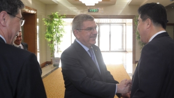 IOC President Meets With Kim Jong Un in North Korea