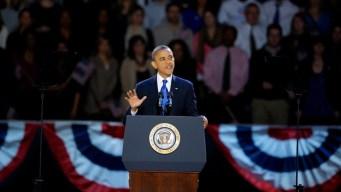 Obama Celebrates at Star Studded Party