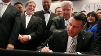 Nevada Gov. Signs Bill Clearing Way for Vegas NFL Stadium