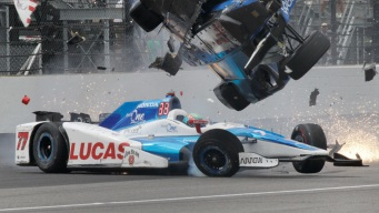 Pole Sitter Scott Dixon Out of Indy 500 After Crash With Jay Howard