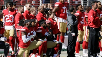 About 2 Dozen NFL Players Protested During Anthems Sunday