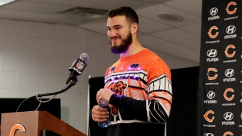 Trubisky's Christmas Sweater Lights Up Social Media