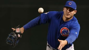 Rizzo, Baez Named as Finalists for Gold Glove Award