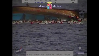Raw: Migrant Boat Capsizes off Libyan Coast