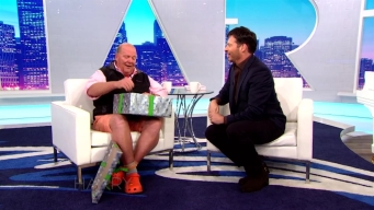 Harry Gives Mario Batali A Gift