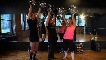 Ali Picks Up Her Pom Poms at Cheerobix