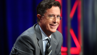 Stephen Colbert Tries to Bring Cubs Good Luck