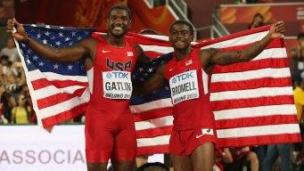Friends, Teammates, Rivals: Gatlin, Brommell Run for Gold