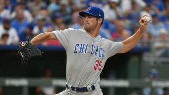 Baez Homers, Hamels Sharp Again in Cubs' 3-1 Win Over Royals