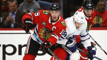 Maple Leafs Top Blackhawks in Wild Game