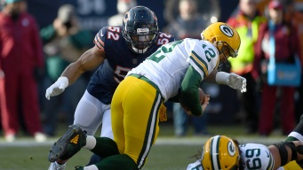 Khalil Mack Sacks Aaron Rodgers With His Back